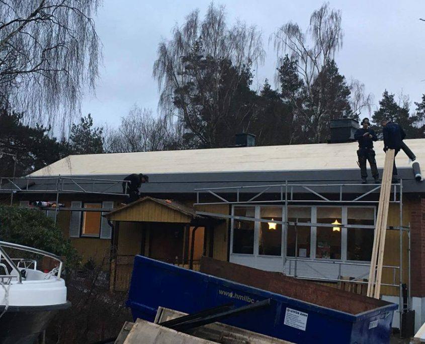 Totalrenovering av tak i Hovås!